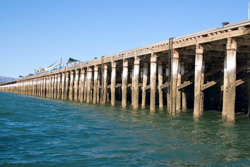 cais longo em Augusta portuária imagem de stock