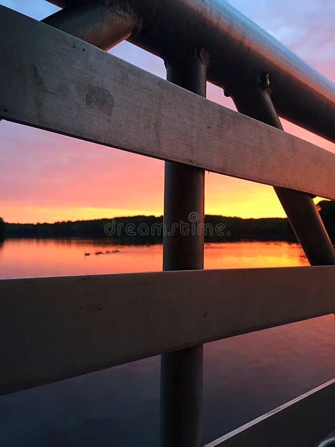 Cais no nascer do sol foto de stock royalty free