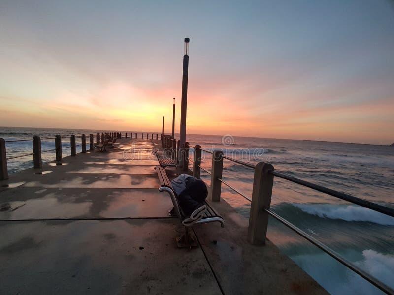Cais norte de Durban fotografia de stock