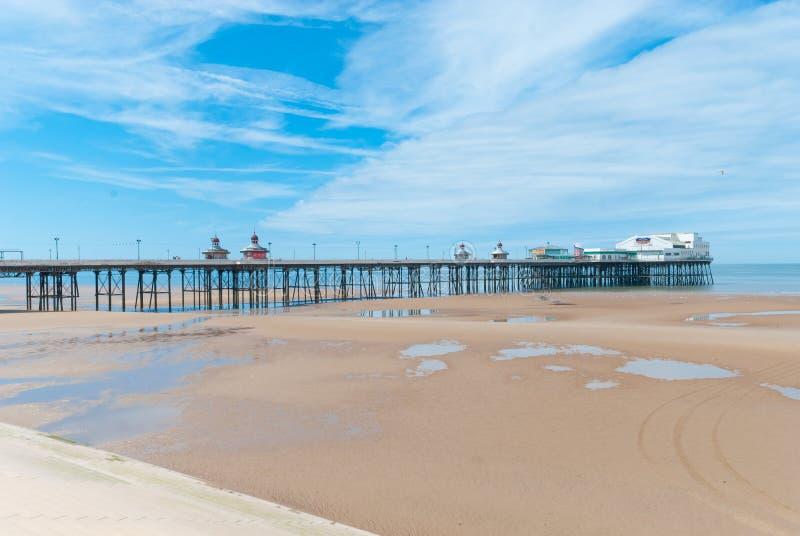 Cais norte em Blackpool fotografia de stock royalty free