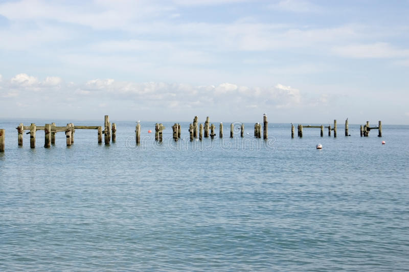 Cais velho, Swanage, Dorset fotos de stock royalty free