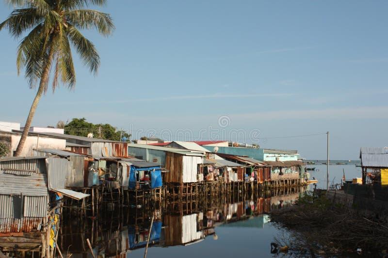 Cais vietnamiano dos fishermans imagem de stock