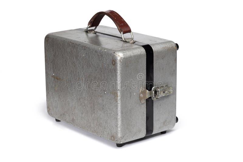 Caisse antique de portable en métal photographie stock