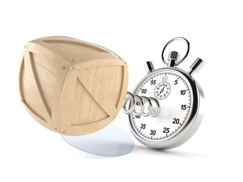 Caisse avec le chronomètre illustration de vecteur