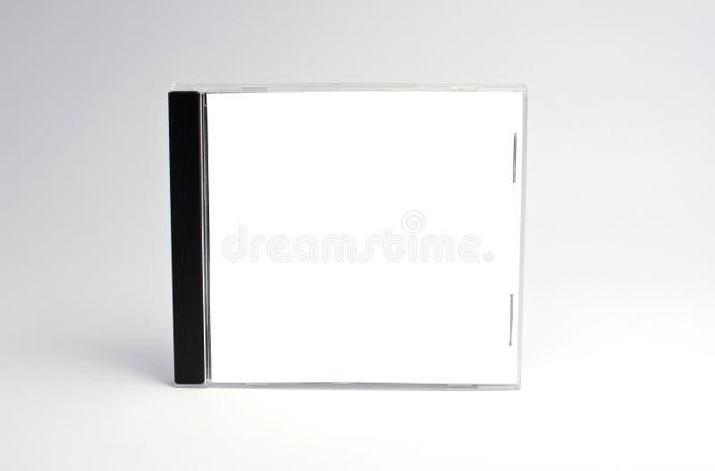 Caisse cd blanc d'isolement photographie stock libre de droits