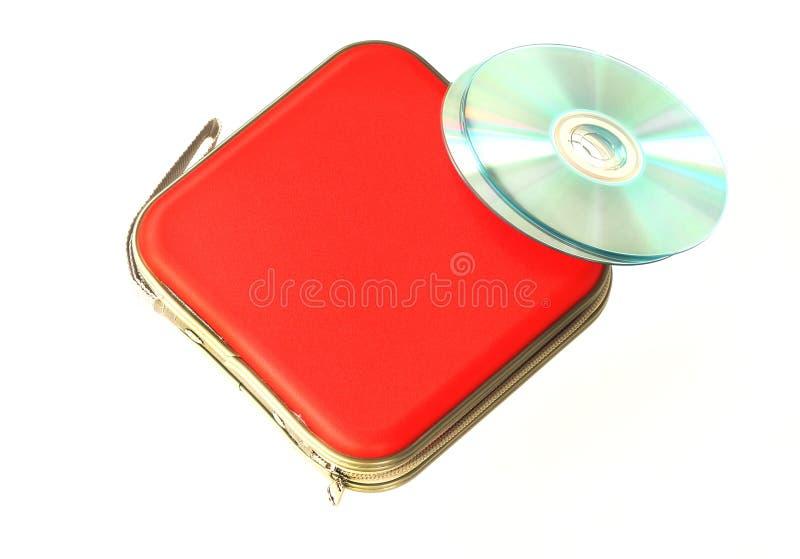 Caisse CD d'isolement sur le fond blanc images stock