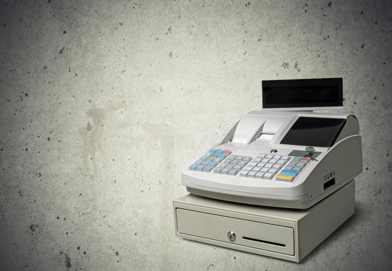 Caisse comptable image stock