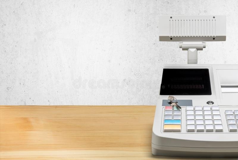 Caisse comptable photo stock