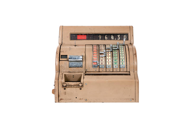 Caisse Comptable Ancienne Images stock