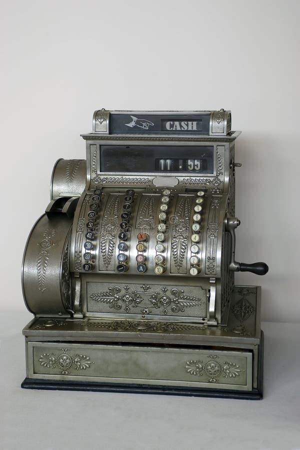 Caisse comptable antique image stock