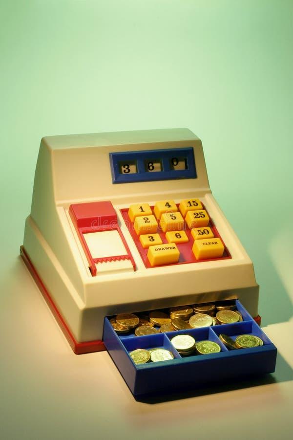 Caisse comptable de jouet image stock