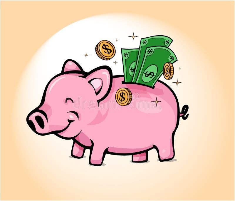Caisse d'épargne porcine heureuse image stock