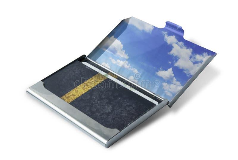 Caisse de carte de visite professionnelle de visite images stock