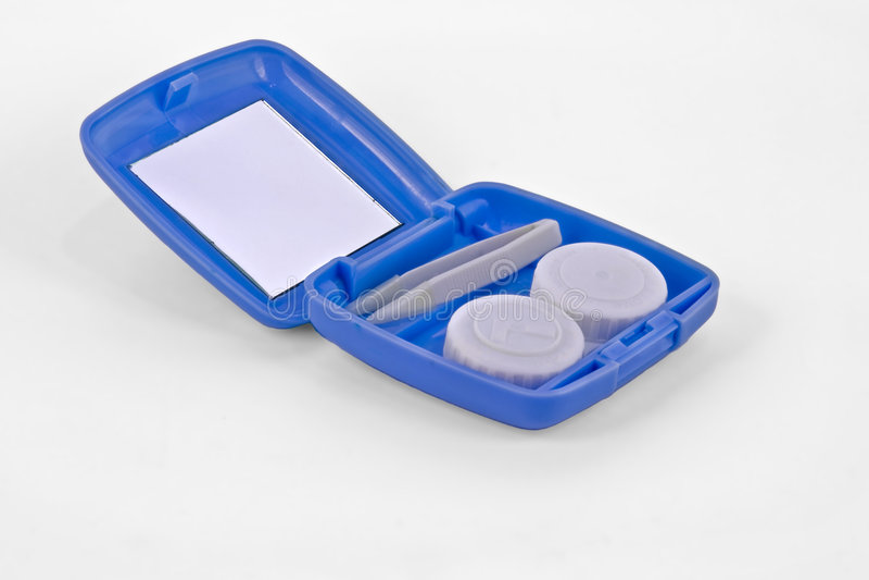 Caisse de verres de contact photos libres de droits