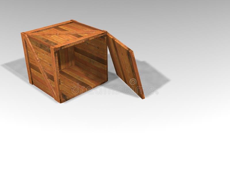Caisse en bois illustration libre de droits