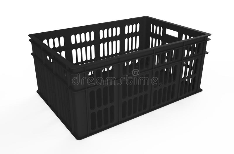 caisse en plastique noire illustration stock illustration du cage 52045376. Black Bedroom Furniture Sets. Home Design Ideas