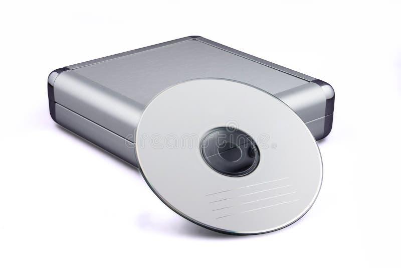 Caisse et CD CD photographie stock libre de droits