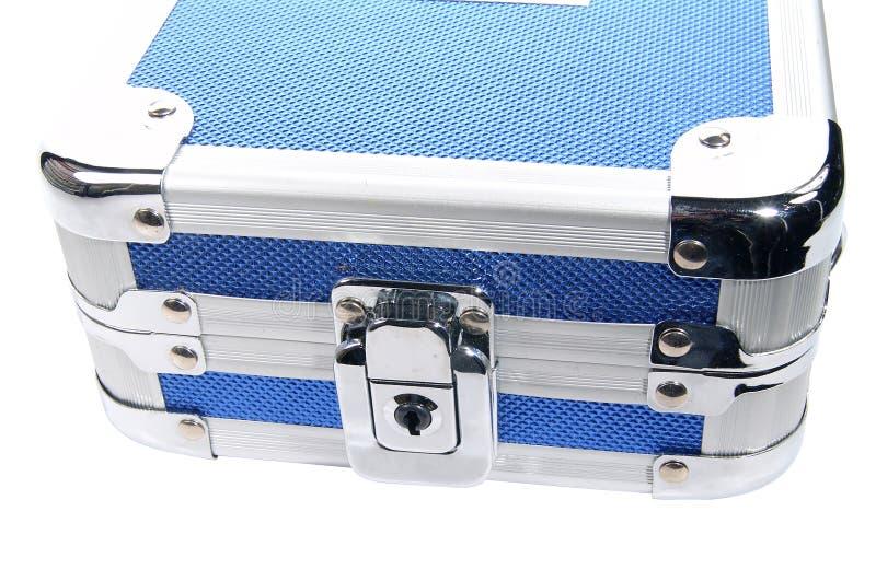 Caisse Métallique Bleue Photo stock