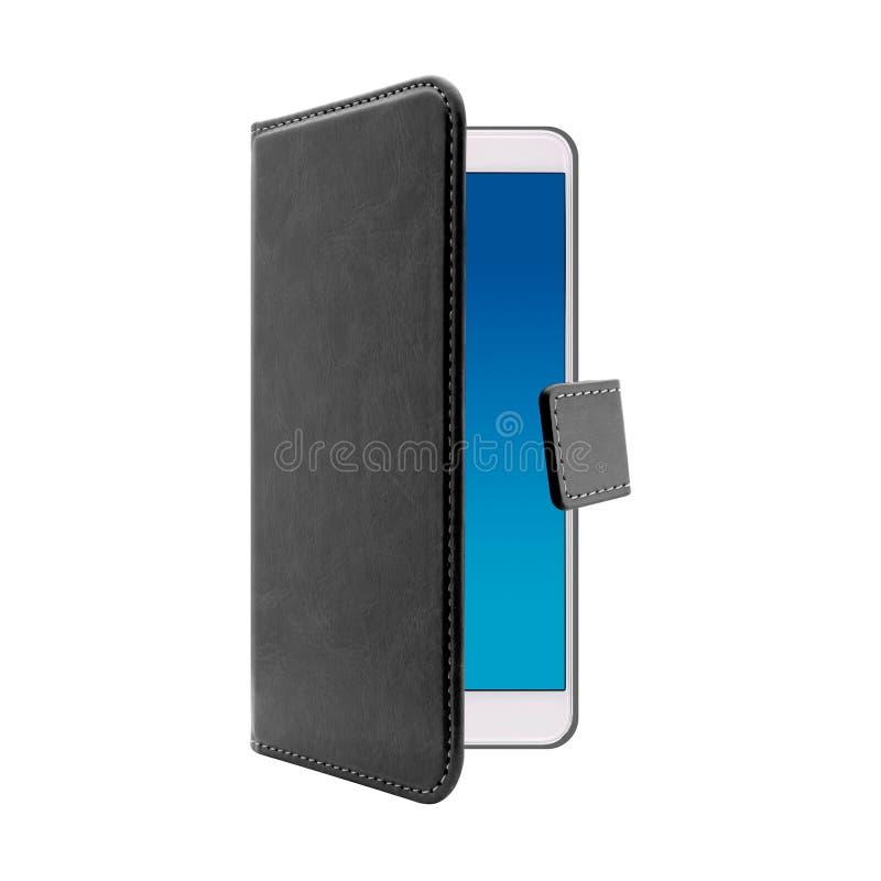 Caisse noire pour le t?l?phone portable image stock
