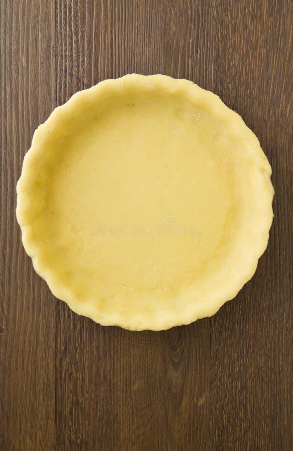 Caisse pâteuse de tarte ou de flan, vide photographie stock libre de droits
