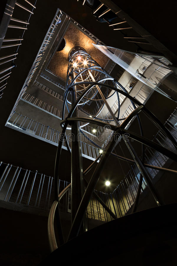 Caisse spiralée d'escalier images libres de droits