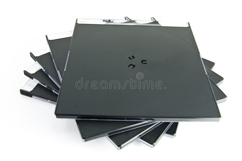 Caisses CD photographie stock libre de droits