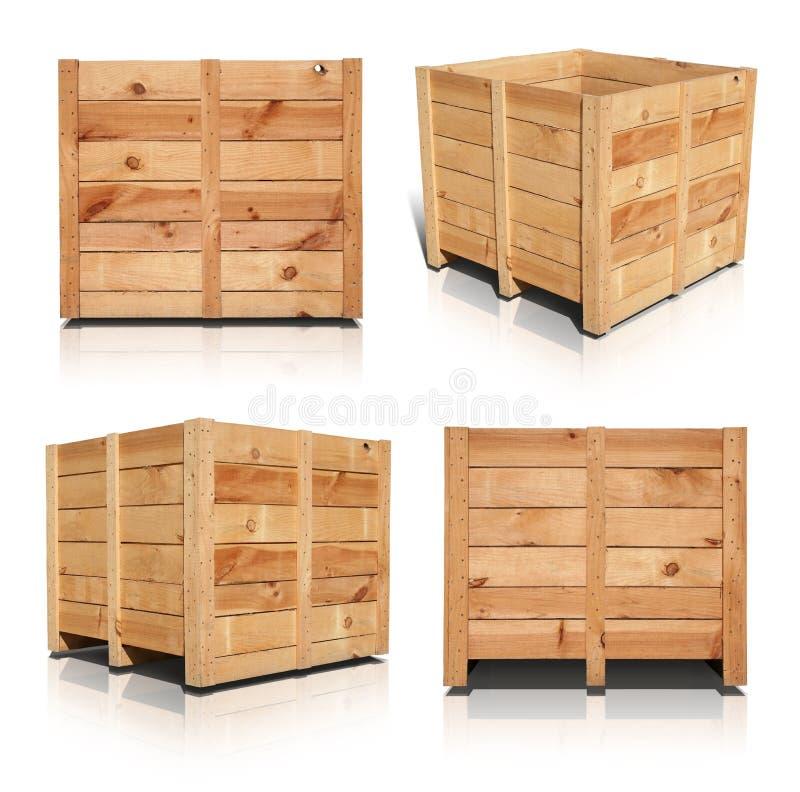 Caisses en bois image libre de droits