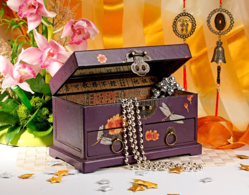 Download Caixão para o bijouterie imagem de stock. Imagem de lilac - 12805407
