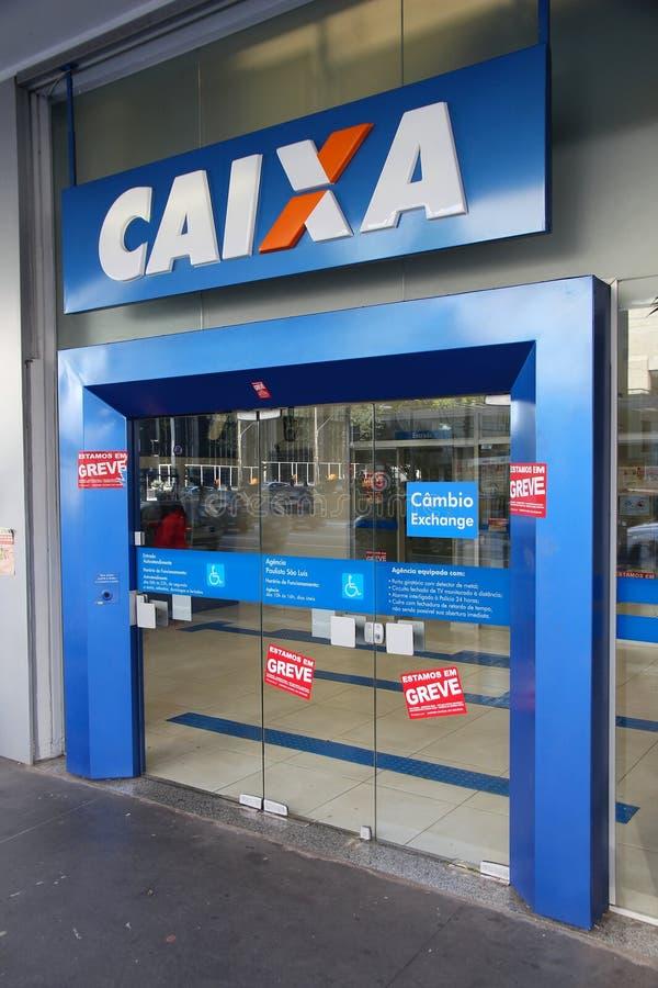 Caixa银行,巴西 库存图片