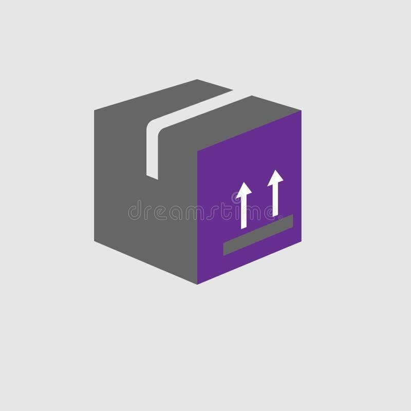 Caixa, ícone da etiqueta Elemento do ícone da entrega e da logística para apps móveis do conceito e da Web A caixa detalhada, íco ilustração stock
