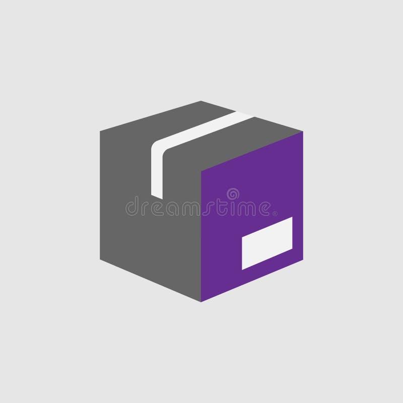 Caixa, ícone do pacote Elemento do ícone da entrega e da logística para apps móveis do conceito e da Web A caixa detalhada, ícone ilustração stock