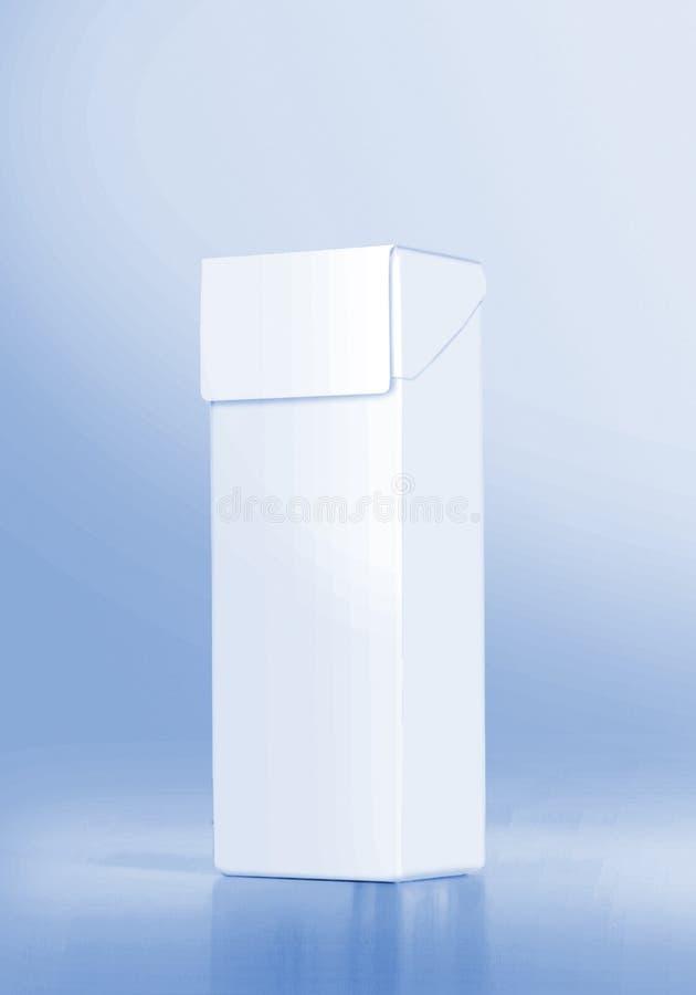 caixa 3D branca fotos de stock royalty free