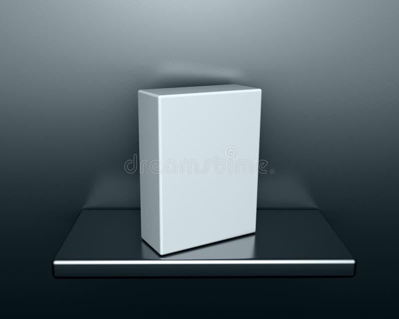 Caixa 3d em branco ilustração stock