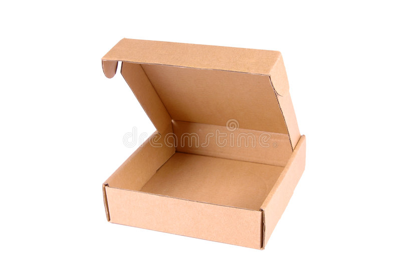 Caixa aberta fotografia de stock