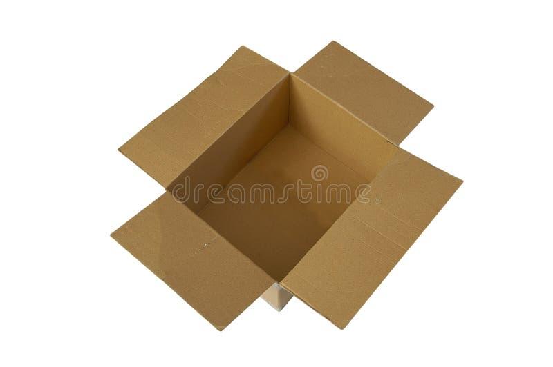 Caixa aberta foto de stock