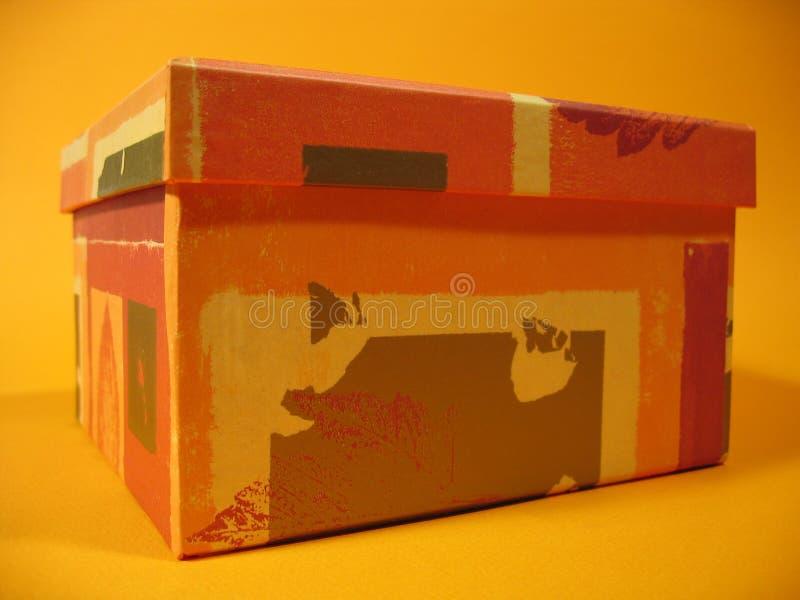 Caixa alaranjada II fotografia de stock