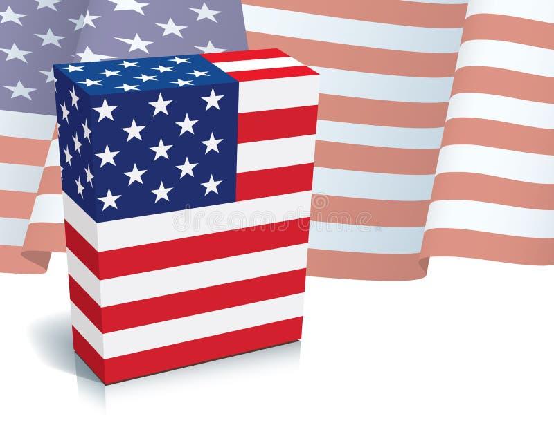 Caixa americana ilustração do vetor