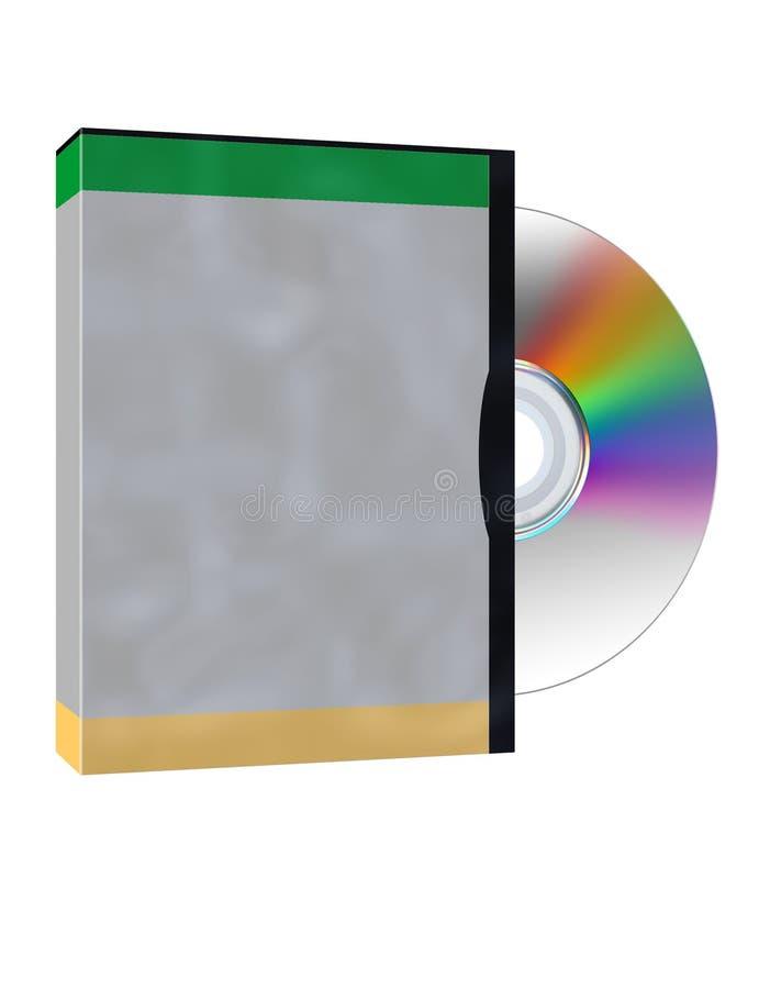 Caixa & disco ilustração stock