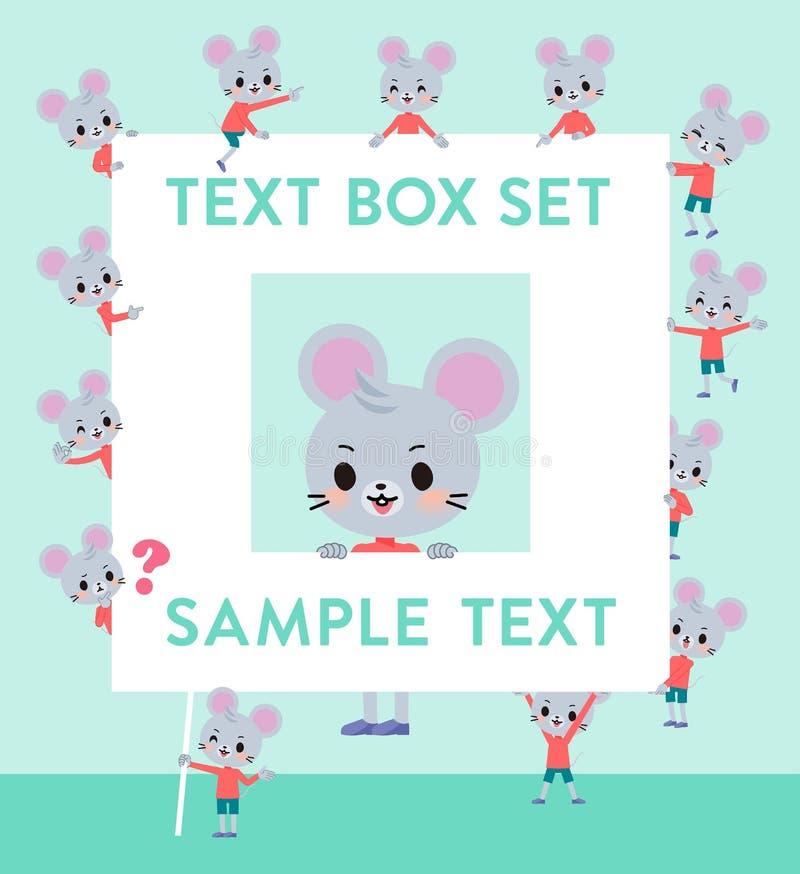 Caixa animal do boy_text do rato ilustração do vetor