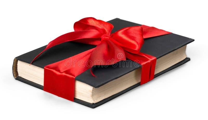 Caixa atual no branco amarrada com tipo vermelho imagem de stock
