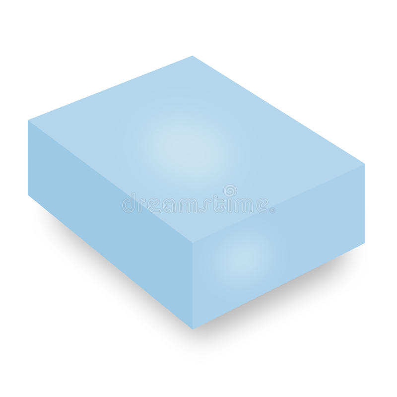 Caixa azul fotos de stock