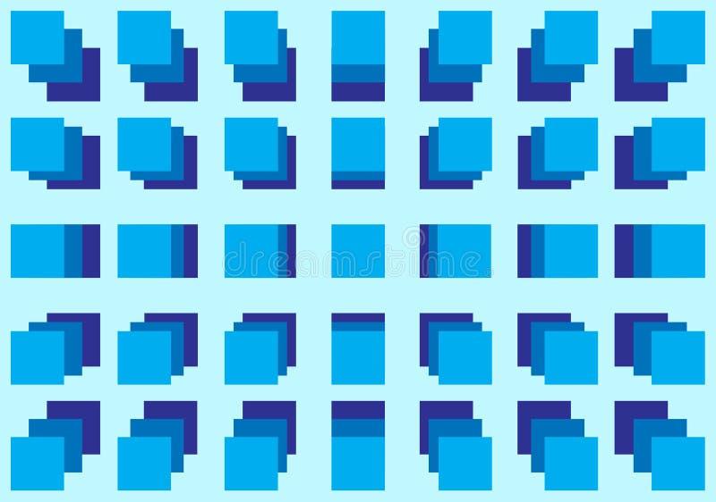 Caixa azul ilustração royalty free