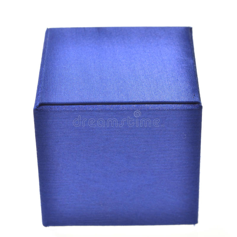 Caixa azul foto de stock