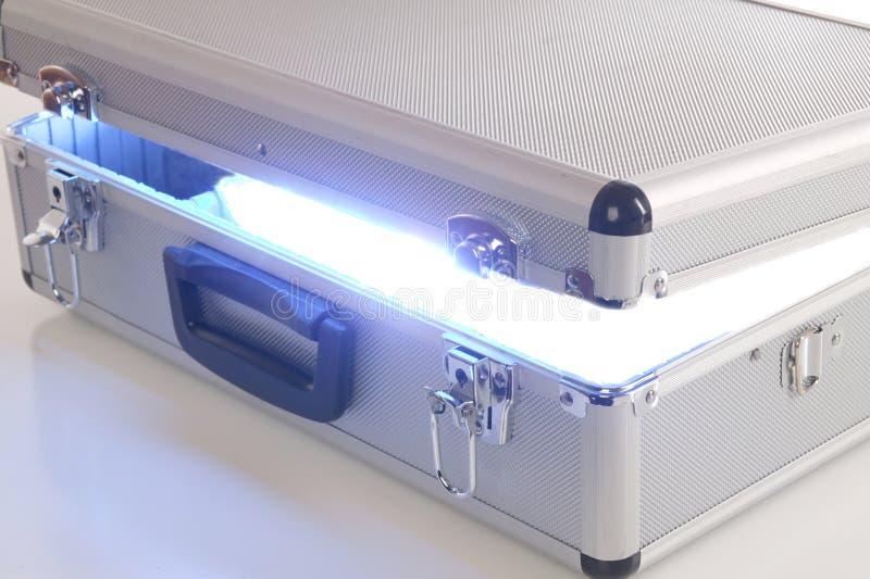 Caixa azul da energia fotografia de stock