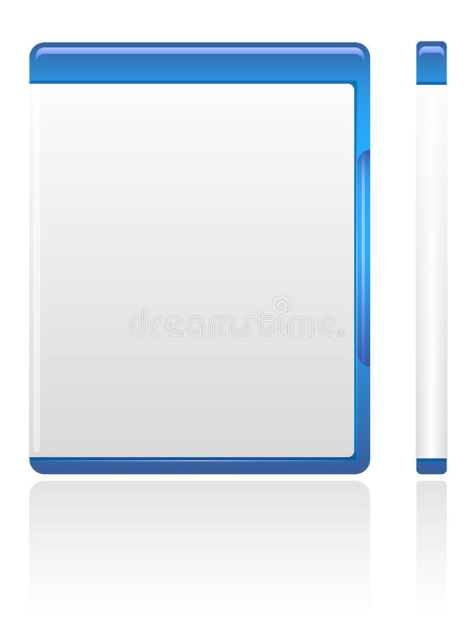 Caixa azul de DVD ilustração do vetor