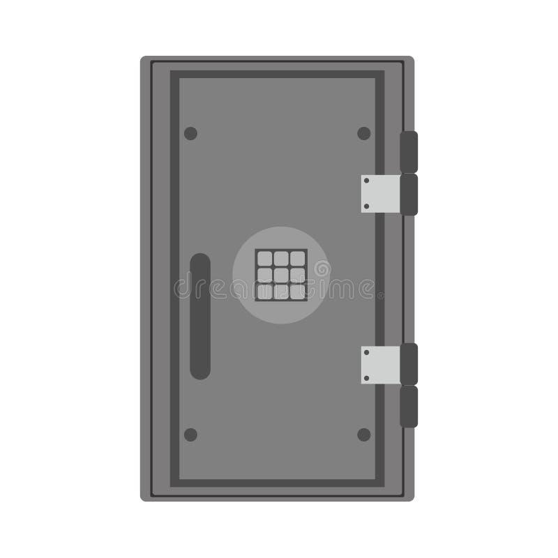 Caixa bancária segura do fechamento do ícone do vetor do investimento do objeto Cofre-forte do dinheiro do tesouro da segurança S ilustração royalty free