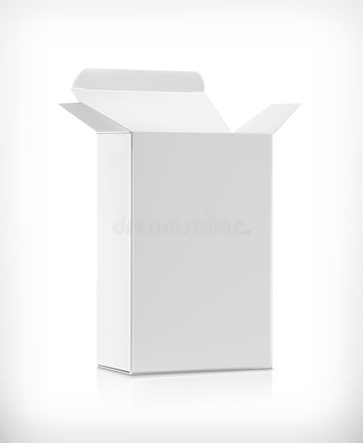 Caixa branca da caixa ilustração do vetor
