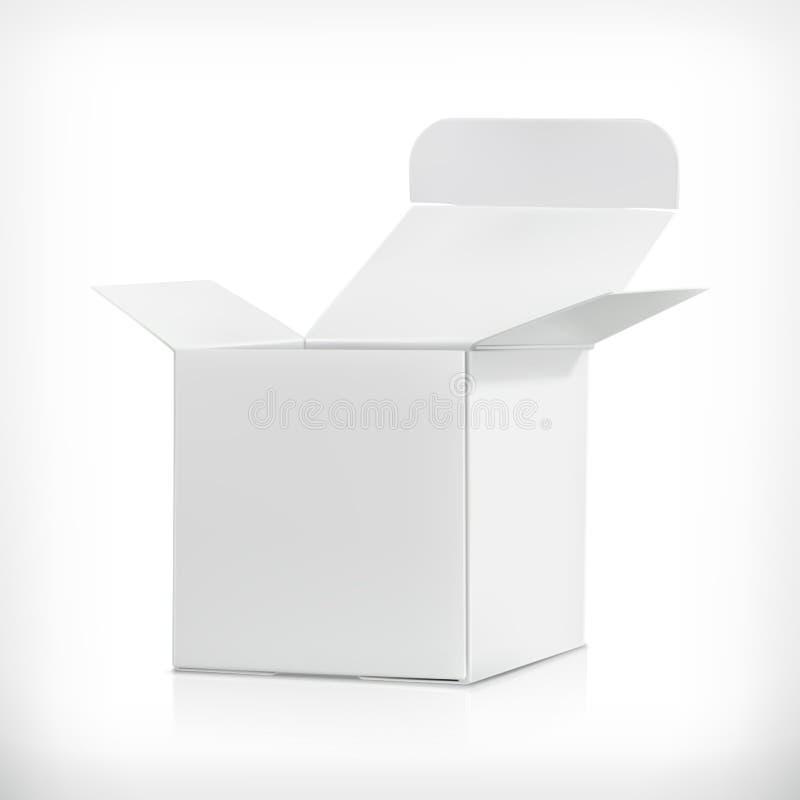 Caixa branca da caixa ilustração royalty free