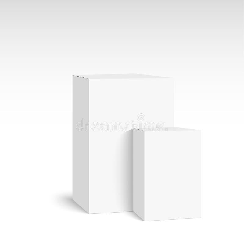 Caixa branca do pacote ilustração royalty free