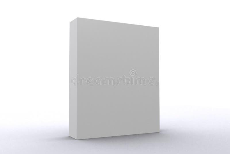 Caixa branca do pacote de software imagem de stock royalty free